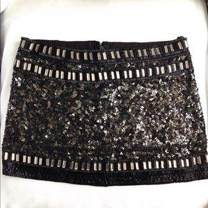 All Saints Sequin Devo Skirt